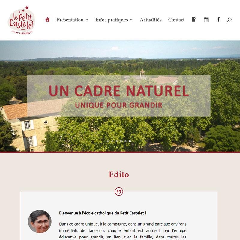 réalisation site web école petit castelet